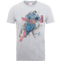 Marvel Avengers Assemble Captain America T-Shirt - Grey - XXL - Grey