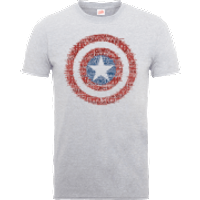 Marvel Avengers Assemble Captain America Super Soldier T-Shirt - Grey - M - Grey