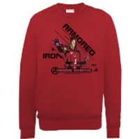 Marvel Avengers Assemble Armored Iron Man Sweatshirt - Red - M - Red