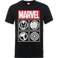 Camiseta Marvel Los Vengadores Emblemas -