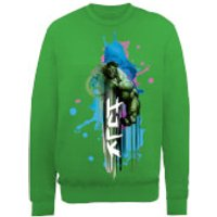 Marvel Avengers Assemble Hulk Art Burst Sweatshirt - Green - M - Green