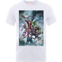 Marvel Avengers Team Montage T-Shirt - White - S - White