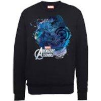 Marvel Avengers Assemble Captain America Montage Sweatshirt - Black - XXL - Black