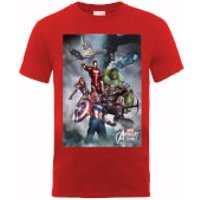 Marvel Avengers Team Montage T-Shirt - Red - M - Red