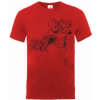 Marvel Avengers Assemble Iron Man Mono Sketch T-Shirt - Red - XXL - Red - Iron Man Gifts