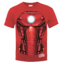 Marvel Avengers Assemble Iron Man Chest Burst T-Shirt - Red - S - Red - Iron Man Gifts
