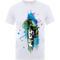 Marvel Avengers Assemble Hulk Art Burst T-Shirt - White - M - White