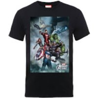 Marvel Avengers Team Montage T-Shirt - Black - L - Black