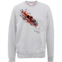 Marvel Avengers Assemble Iron Man Shooting Burst Sweatshirt - Grey - S - Grey