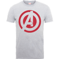 Marvel Avengers Assemble Captain America Logo T-Shirt - Grey - XXL - Grey