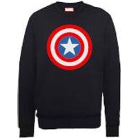 Marvel Avengers Assemble Captain America Simple Shield Sweatshirt - Black - XXL - Black - Simple Gifts