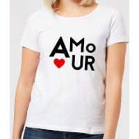 Amour Block Women's T-Shirt - White - L - White