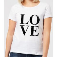 Love Textured Women's T-Shirt - White - L - White