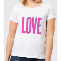 Love Glitch Women's T-Shirt - White - M - White