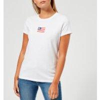 Polo-Ralph-Lauren-Womens-Logo-Flag-TShirt-White-M-White