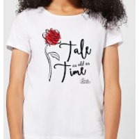 Disney Beauty And The Beast Tale As Old As Time Rose Women's T-Shirt - White - XL - White - Beauty And The Beast Gifts