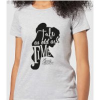 Disney Beauty And The Beast Princess Belle Tale As Old As Time Women's T-Shirt - Grey - L - Grey - Princess Belle Gifts