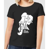 Disney Beauty And The Beast Princess Belle Tale As Old As Time Women's T-Shirt - Black - L - Black - Princess Belle Gifts
