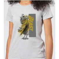 Disney Beauty And The Beast Rage Women's T-Shirt - Grey - 3XL - Grey