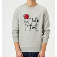 Disney Beauty And The Beast Tale As Old As Time Rose Sweatshirt - Grey - L - Grey