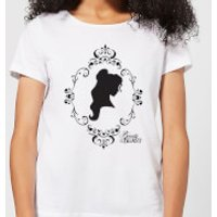 Disney Beauty And The Beast Belle Silhouette Women's T-Shirt - White - 5XL - White - Princess Belle Gifts