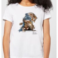 Disney Beauty And The Beast Sketch Women's T-Shirt - White - M - White