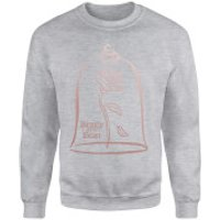 Disney Beauty And The Beast Rose Gold Sweatshirt - Grey - S - Grey