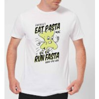 EAT PASTA RUN FASTA T-Shirt - White - XXL - White - Pasta Gifts