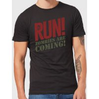 RUN! Zombies Are Coming! T-Shirt - Black - 5XL - Black - Zombies Gifts