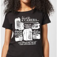 Life Is Like A Camera Women's T-Shirt - Black - XL - Black - Camera Gifts