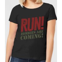 RUN! Zombies Are Coming! Women's T-Shirt - Black - 5XL - Black - Zombies Gifts