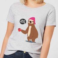 Sloth Good Morning Women's T-Shirt - Grey - M - Grey