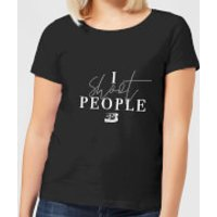 I Shoot People Women's T-Shirt - Black - L - Black