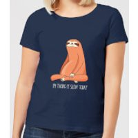 Taking It Slow Today Women's T-Shirt - Navy - XL - Navy