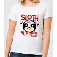 Sloth Running Team Women's T-Shirt - White - XL - White