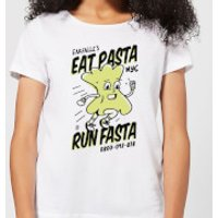 EAT PASTA RUN FASTA Women's T-Shirt - White - XXL - White - Pasta Gifts