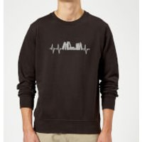 Heartbeat Books Sweatshirt - Black - S - Black - Books Gifts