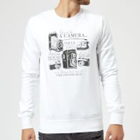 Life Is Like A Camera Sweatshirt - White - L - White - Camera Gifts