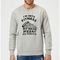 Fitness Pizza Sweatshirt - Grey - XXL - Grey - Fitness Gifts