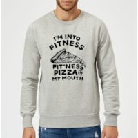 Fitness Pizza Sweatshirt - Grey - 5XL - Grey - Fitness Gifts