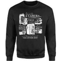 Life Is Like A Camera Sweatshirt - Black - XXL - Black