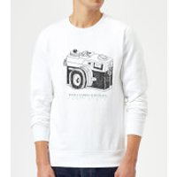With A Camera In My Hand, I Know No Fear Sweatshirt - White - S - White