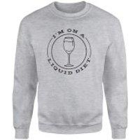 Liquid Diet Wine Sweatshirt - Grey - M - Grey