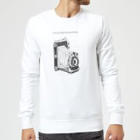 Photography Vintage Scribble Sweatshirt - White - XXL - White - Photography Gifts