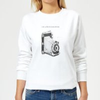 Photography Vintage Scribble Women's Sweatshirt - White - XXL - White - Photography Gifts