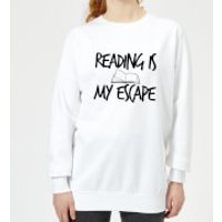 Reading Is My Escape Women's Sweatshirt - White - XXL - White - Reading Gifts