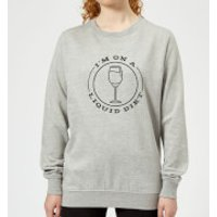 Liquid Diet Wine Women's Sweatshirt - Grey - 5XL - Grey
