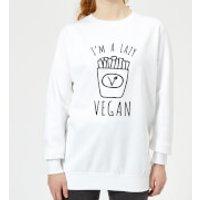 Lazy Vegan Women's Sweatshirt - White - XS - White