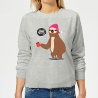Sloth Good Morning Women's Sweatshirt - Grey - XXL - Grey