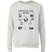 Chocolate Cake Recipe Women's Sweatshirt - White - XXL - White - Chocolate Gifts